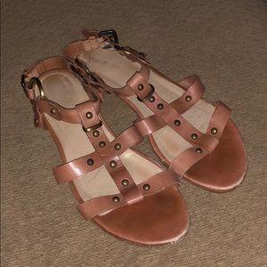 Stuart Weitzman gladiator sandals flats shoes